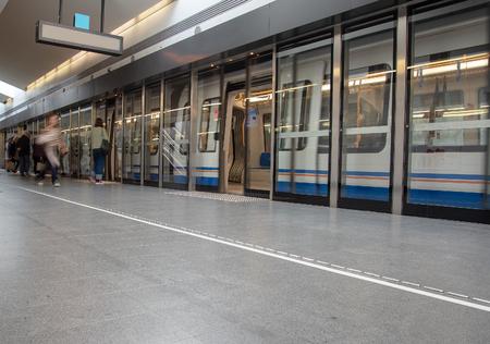 Brescia metro station, Italy. Editorial