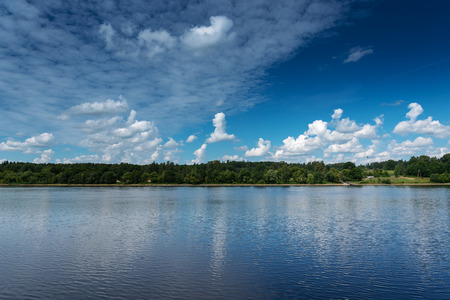 Daugava river middle reaches, Latvia. 版權商用圖片