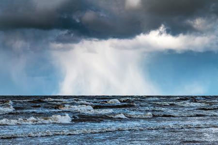 Rough Baltic sea, coast of Latvia. Фото со стока