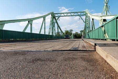 Historical rotary bridge in Liepaja, Latvia.