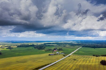 Summer day in countryside of Latvia. Imagens