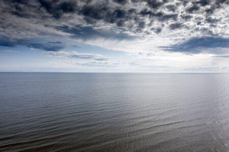 Gulf of Riga, Baltic sea in calm summer day. 版權商用圖片
