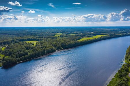 River Daugava in summer afternoon, central Latvia.