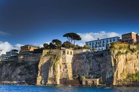 Mediterranean sea coast at Sorrento , Italy.