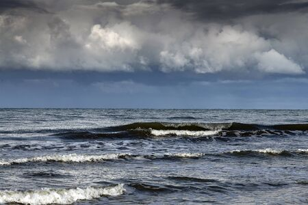 Baltic sea and stormy clouds.