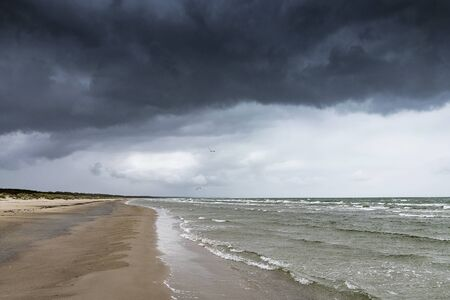 Gray clouds over Baltic sea.