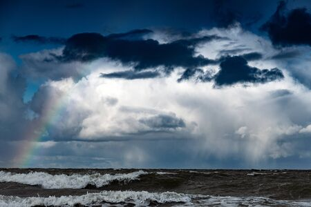 Stormy clouds over Baltic sea.