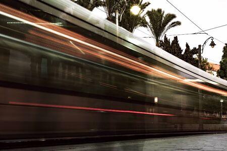 Trafic du soir à Jérusalem, Israël.