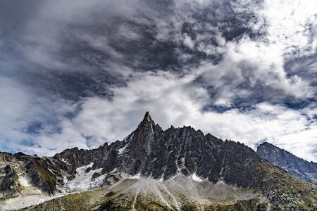 Alpine landscape in Chamonix surroundings, France.