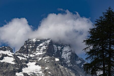 Nice day on Matterhorn surroundings, italian Alps. Stock fotó