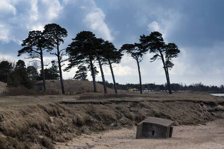Abadoned military fortifications at Baltic sea, Liepaja, Latvia.