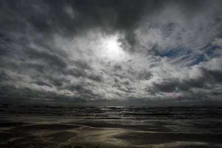 Gray Baltic sea in autumn time. Stock fotó