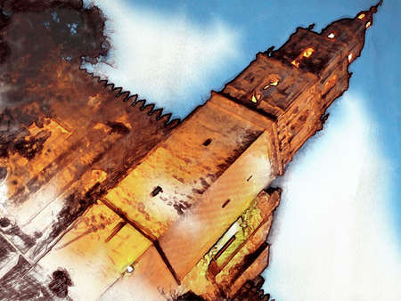 sanctuary: Cathedral Tower Illustration