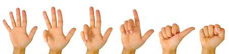 hand position: Conteo regresivo con los dedos de la mano