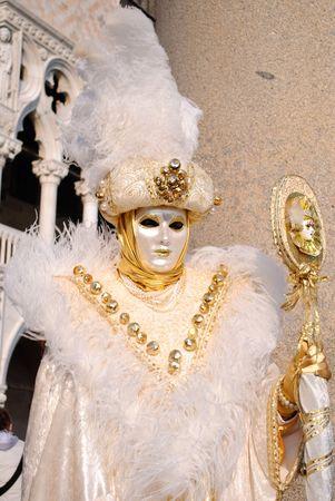 godlike: Mask posing in Venice carnival