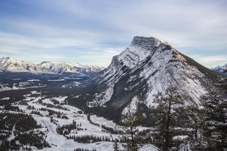 Winter landscape, Banff National Park, Canada