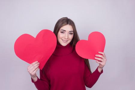 happiness love heart girl