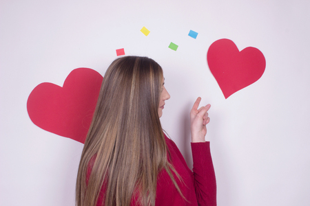 girl heart positive