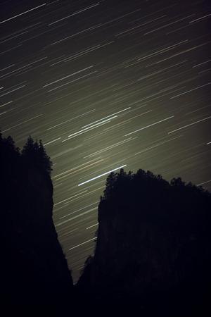 wandelpaden Star en de afsteekt heuvels.