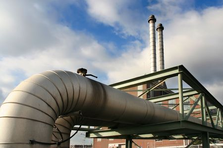 Pipes belonging to a power plant Stock Photo - 3295670