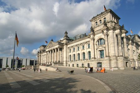 Berlin: Reichstag building of German government photo