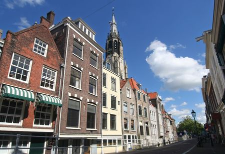 Street in historic Delft, Holland Stock Photo - 3584731
