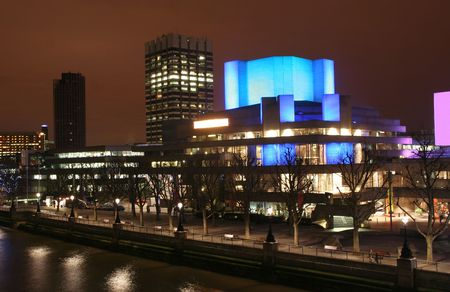 London National Theatre at night
