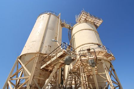 Cement industry plant with silos Stock Photo - 3853363