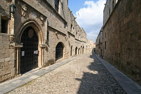 rhodes: Rhodes. Avenue of the Knights Stock Photo