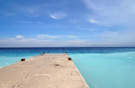 Stone jetty in the Mediterranean Sea Stock Photo - 4052510