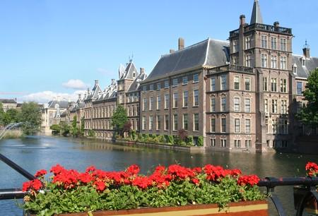 Binnenhof. Dutch parliament buildings in The Hague, Holland