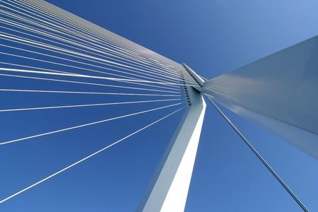rotterdam: The Erasmus bridge in Rotterdam, Netherlands Stock Photo