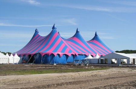 Puple and blue circus tent photo
