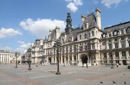 ville: Hotel de Ville, city hall of Paris