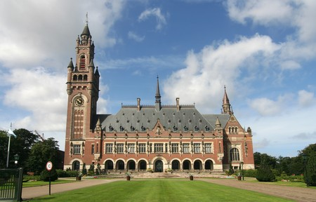 United Nations Peace Palace in The Hague, Holland photo