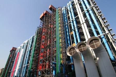 The Pompidou cultural center in Paris Stock Photo