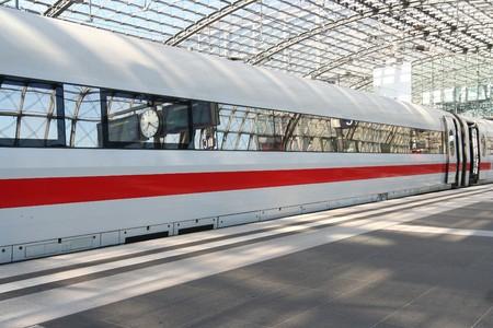 Waiting train in Berlin Railway Station