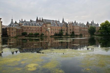Binnenhof. Dutch Parliament buildings in The Hague photo