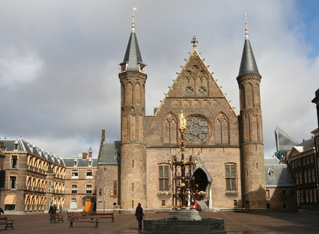 Dutch Parliament. Ridderzaal on the Binnenhof in The Hague
