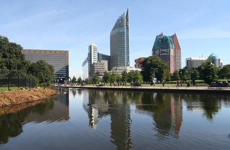 Modern skyline of The Hague, Holland Stock Photo