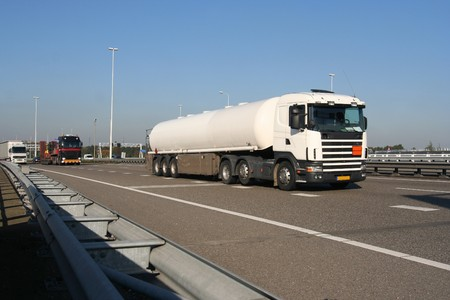 Truck carrying petrochemical liquid from Pernis, Holland Stock Photo - 4341069