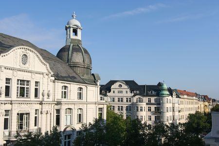 property berlin: Expensive apartment buildings on Kurfurstendamm in Berlin, Germany Stock Photo