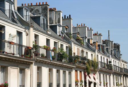 Appartementen in een wijk van Parijs