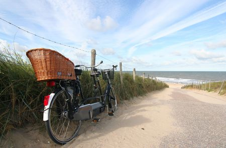 Tandem bike at the beach