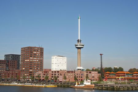 euromast: Euromast in Rotterdam, with Erasmus University in the background