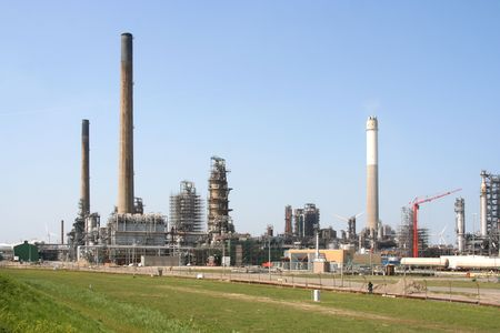 Petrochemical industrial area with oil refineries Stock Photo - 4857435
