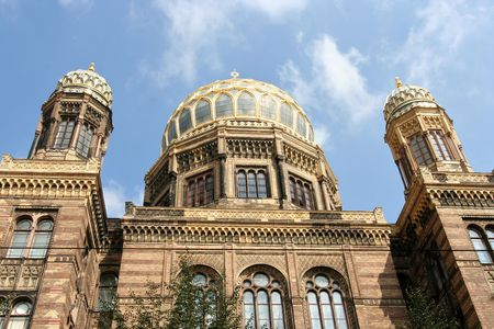 recently: The recently renovated famous New Synagogue in Berlin