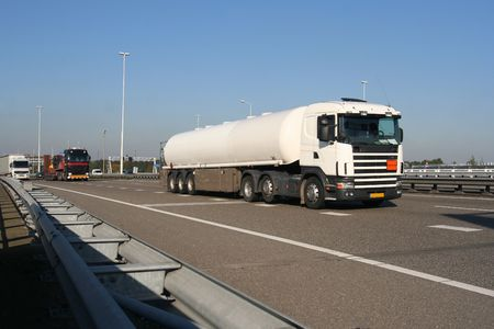 Truck carrying petrochemical liquid from Pernis, Holland