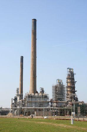 rotterdam: Oil refinery in Rotterdam Europoort Stock Photo