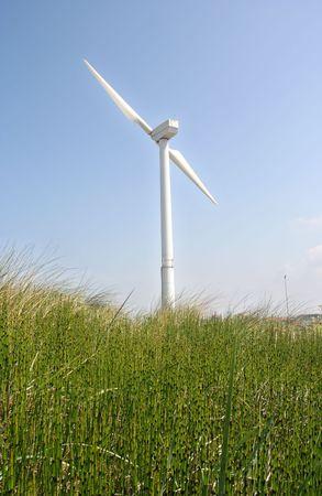 Wind turbine in the dunes Stock Photo - 5053327